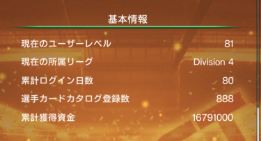 ウイコレ攻略/六本木FC ログイン80日目の運営状況