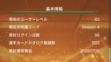 ウイコレ攻略/六本木FC ログイン90日目の運営状況