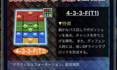 ウイコレ攻略/タクティカルフォーメーション 4-3-3-F(T1)