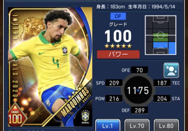 ウイコレ攻略/選手カード詳細 マルキーニョス(ナショナル 2020/ブラジル)