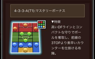 ウイコレ 攻略/タクティカルフォーメーション 4-3-3-A(T1)